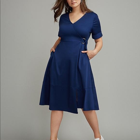fec4363afaf Lane Bryant Faux Wrap Dress